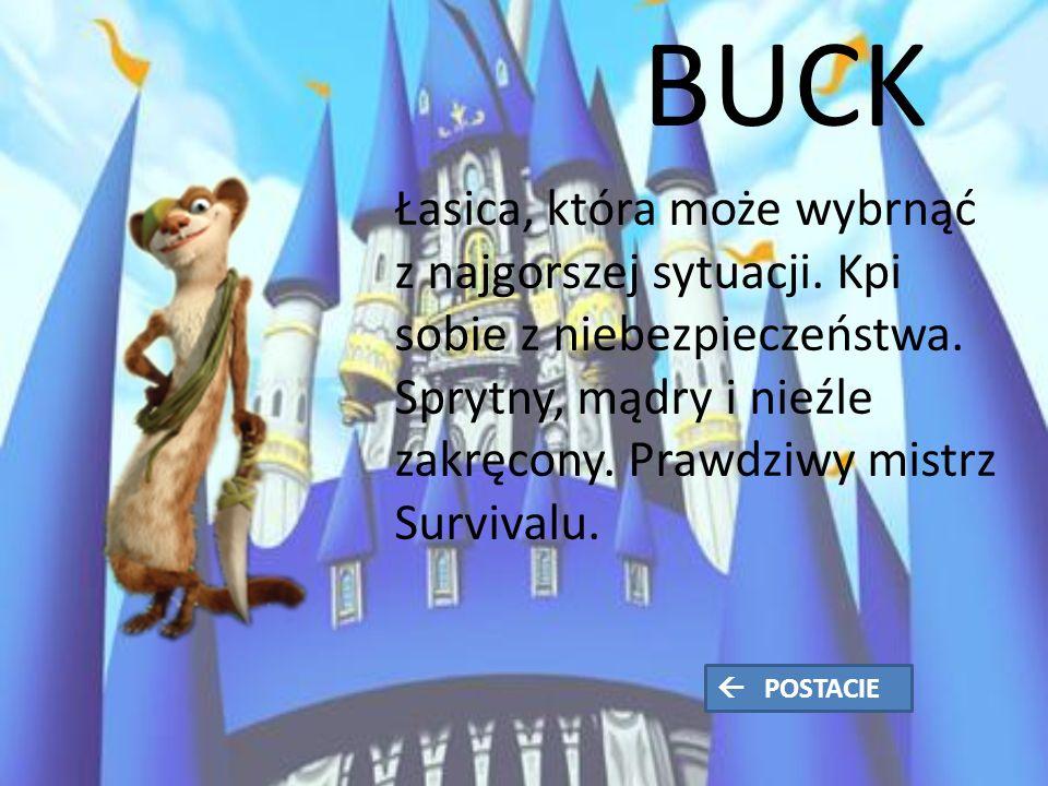 BUCK Łasica, która może wybrnąć z najgorszej sytuacji.