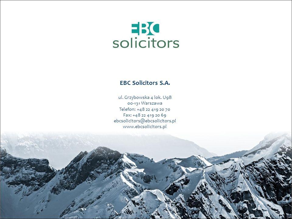 EBC Solicitors S.A. ul. Grzybowska 4 lok.
