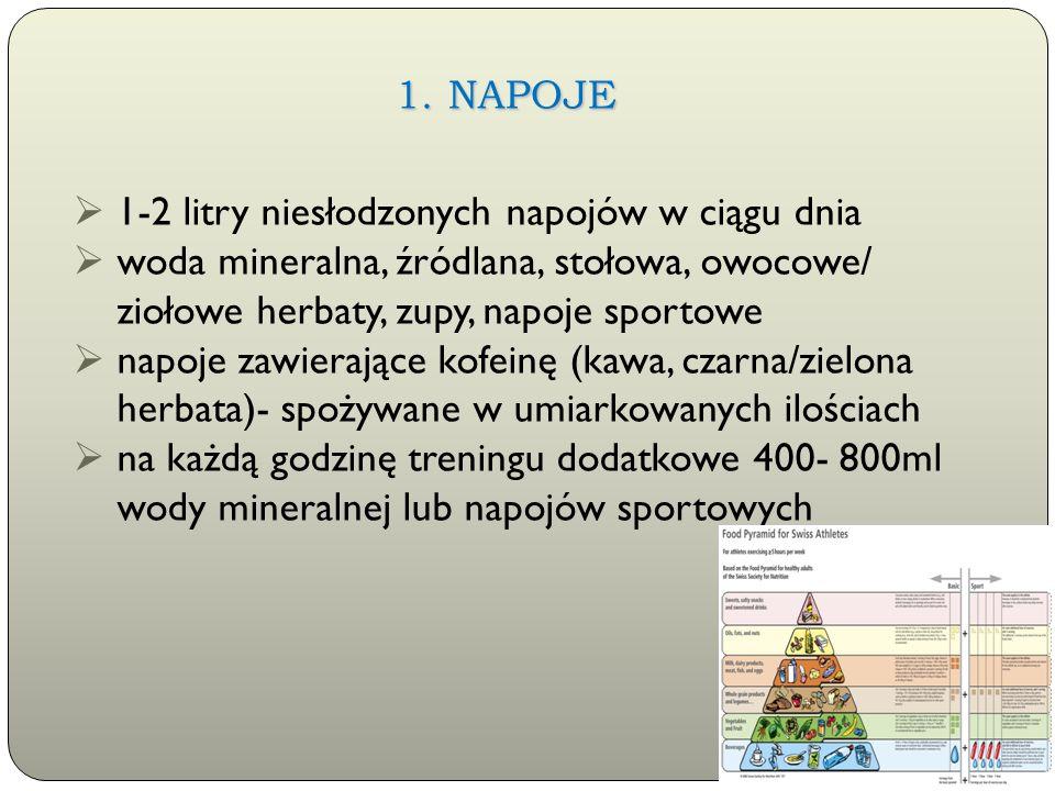 Rzeszów, 24 luty 2014 r.  1-2 litry niesłodzonych napojów w ciągu dnia  woda mineralna, źródlana, stołowa, owocowe/ ziołowe herbaty, zupy, napoje sp