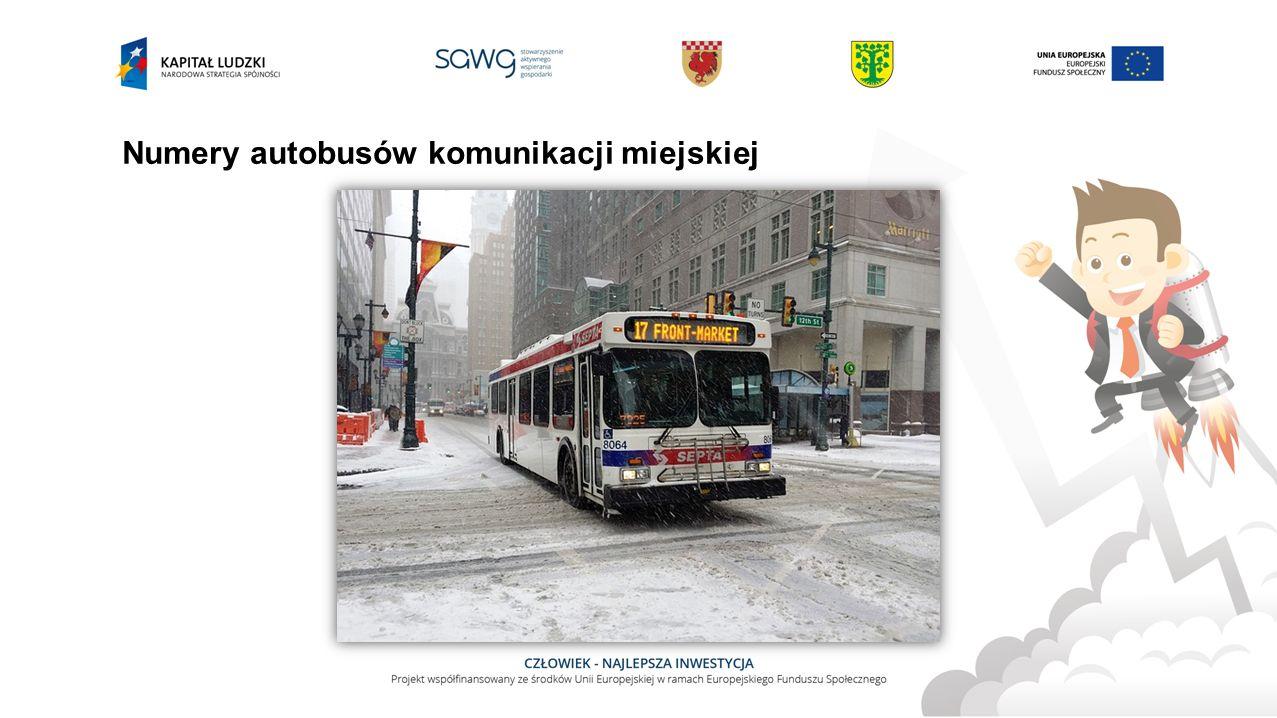 Numery autobusów komunikacji miejskiej