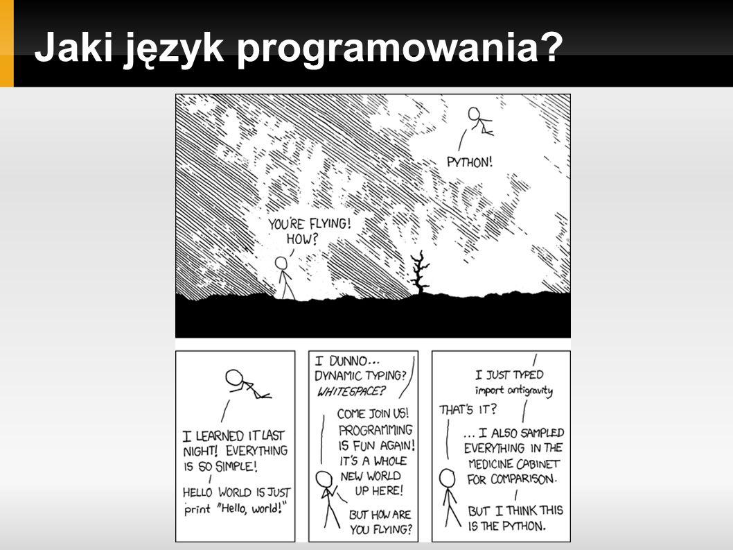 Jaki język programowania?