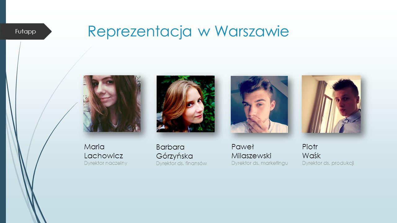 Reprezentacja w Warszawie Barbara Górzyńska Dyrektor ds.