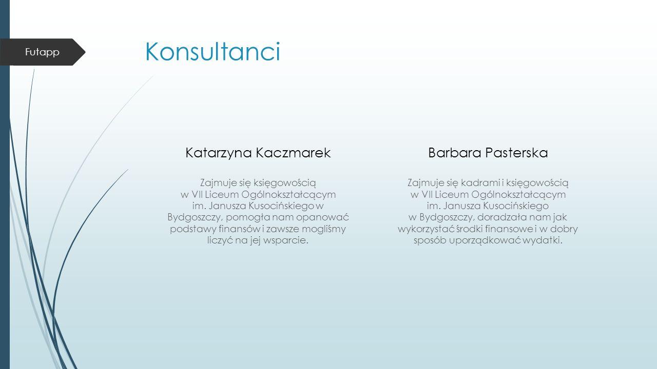 Konsultanci Katarzyna Kaczmarek Zajmuje się księgowością w VII Liceum Ogólnokształcącym im.