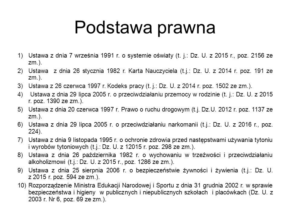 Podstawa prawna 1)Ustawa z dnia 7 września 1991 r.