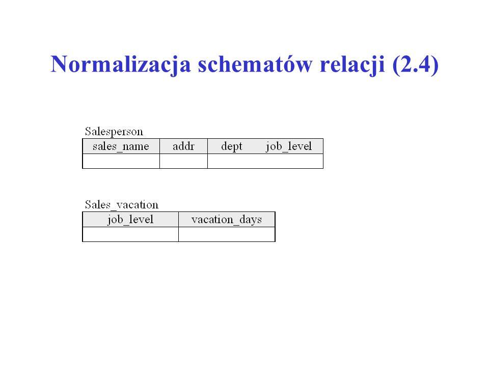 Normalizacja schematów relacji (2.4)