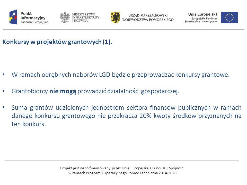 Projekt jest współfinansowany przez Unię Europejską z Funduszu Spójności w ramach Programu Operacyjnego Pomoc Techniczna 2014-2020 Konkursy w projektów grantowych (1).