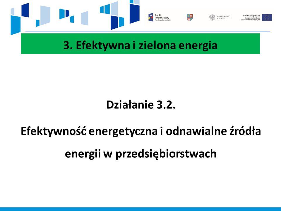 3. Efektywna i zielona energia Działanie 3.2.