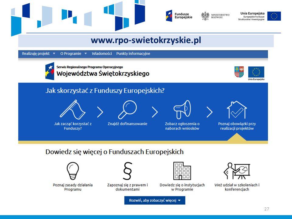 www.rpo-swietokrzyskie.pl 27