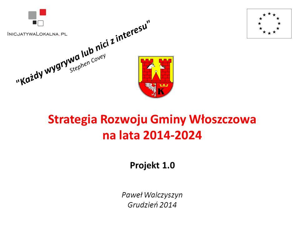 Strategia Rozwoju Gminy Włoszczowa na lata 2014-2024 Projekt 1.0 Każdy wygrywa lub nici z interesu Stephen Covey Paweł Walczyszyn Grudzień 2014