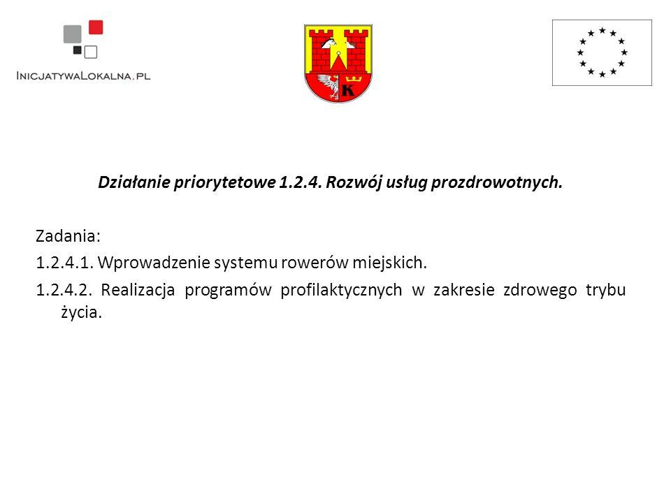 Działanie priorytetowe 1.2.4. Rozwój usług prozdrowotnych.