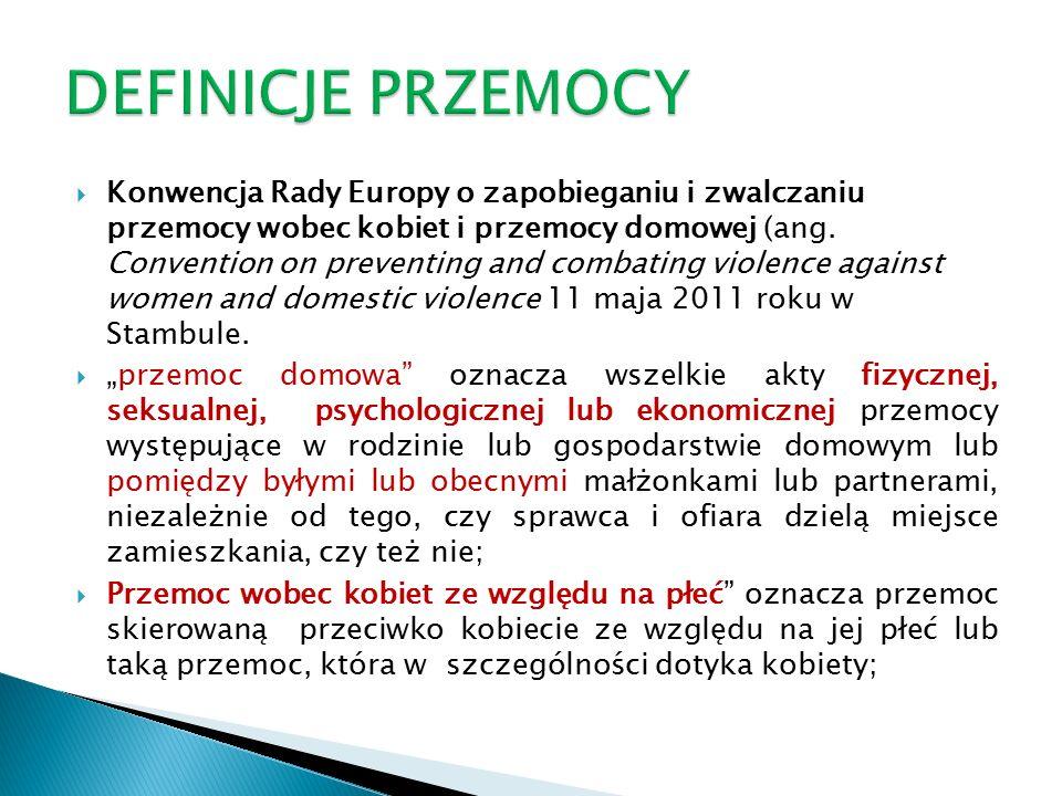  Konwencja Rady Europy o zapobieganiu i zwalczaniu przemocy wobec kobiet i przemocy domowej (ang.