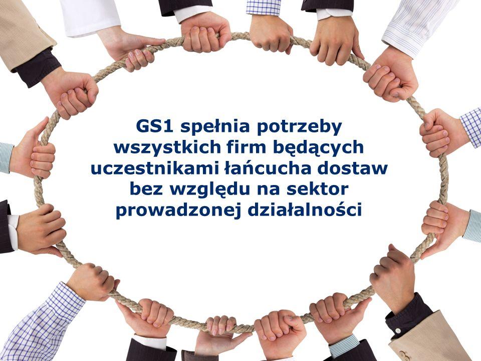 © GS1 2016 Globalny Język Biznesu GS1 spełnia potrzeby wszystkich firm będących uczestnikami łańcucha dostaw bez względu na sektor prowadzonej działal