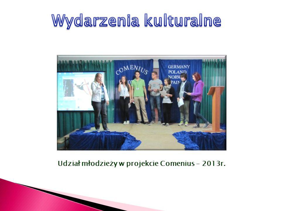 Udział młodzieży w projekcie Comenius – 2013r.