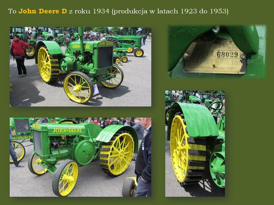 To John Deere D z roku 1934 (produkcja w latach 1923 do 1953)
