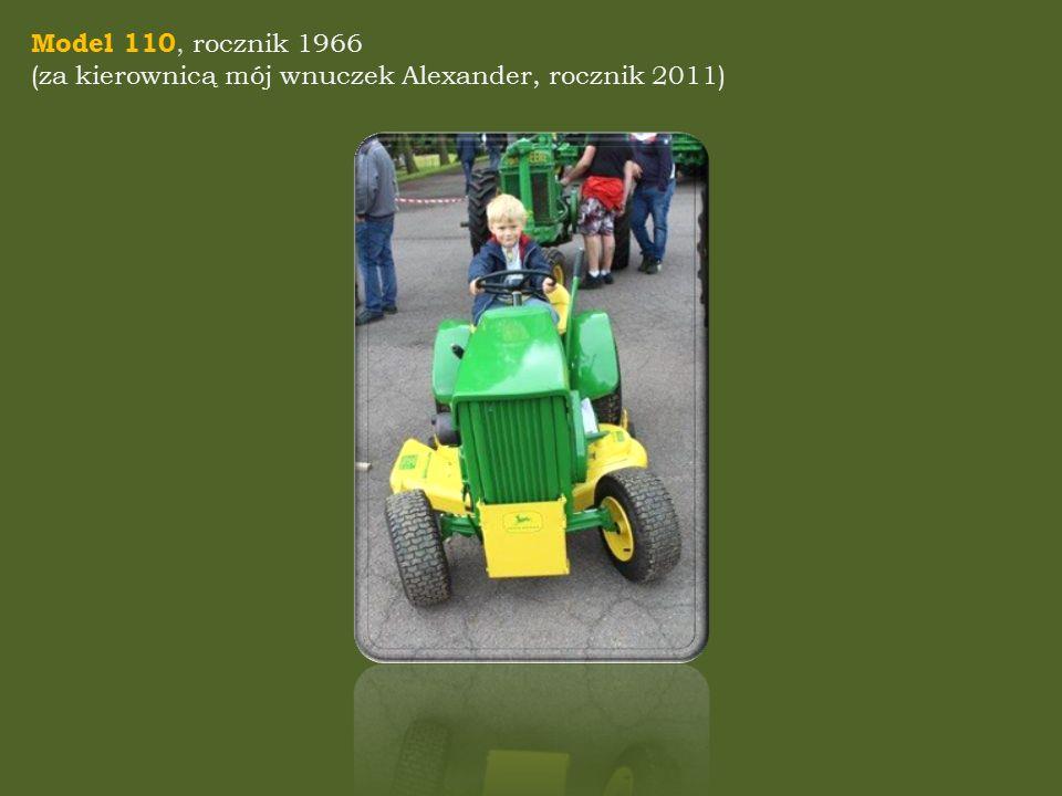 Model 110, rocznik 1966 (za kierownicą mój wnuczek Alexander, rocznik 2011)