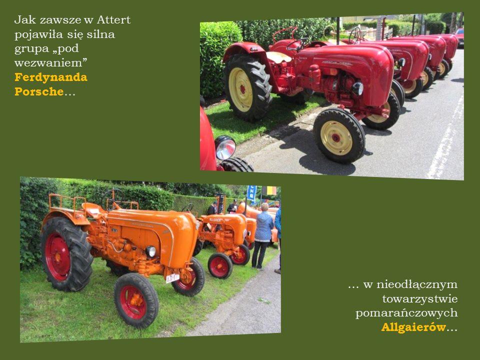 """Jak zawsze w Attert pojawiła się silna grupa """"pod wezwaniem Ferdynanda Porsche … … w nieodłącznym towarzystwie pomarańczowych Allgaierów …"""