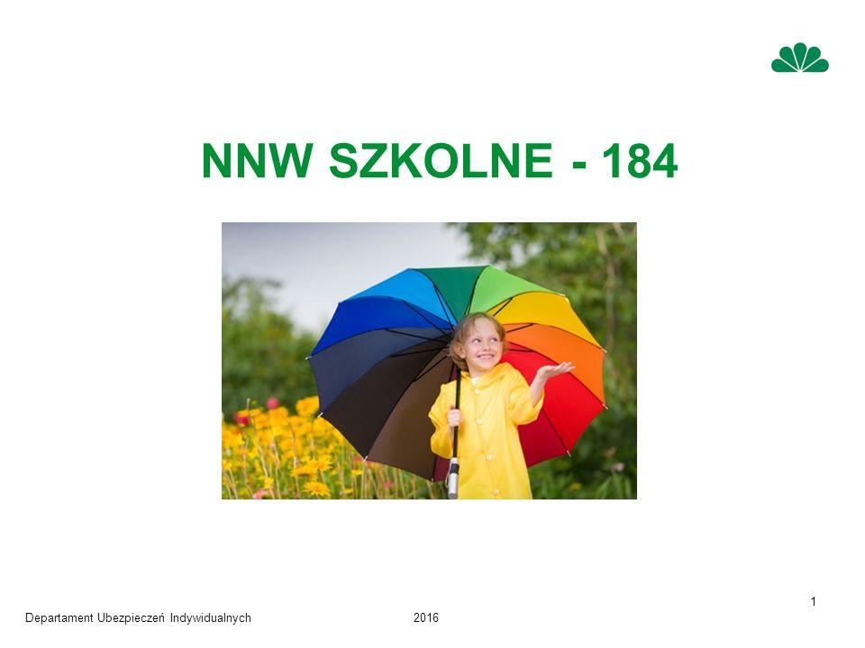 Departament Ubezpieczeń Indywidualnych2016 1 NNW SZKOLNE - 184
