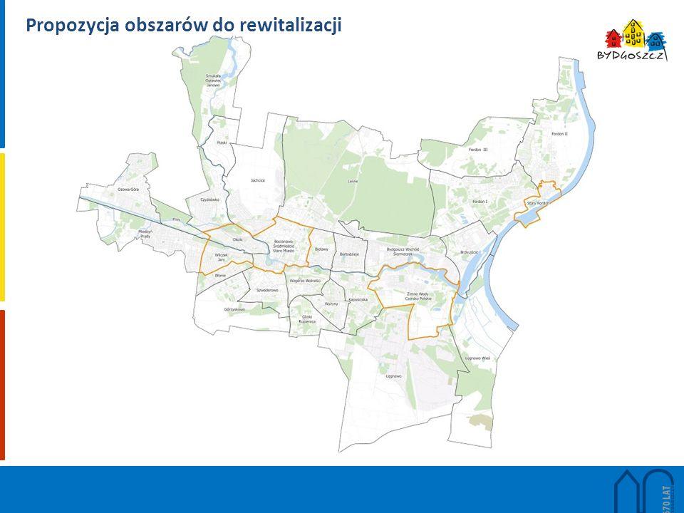 Propozycja obszarów do rewitalizacji