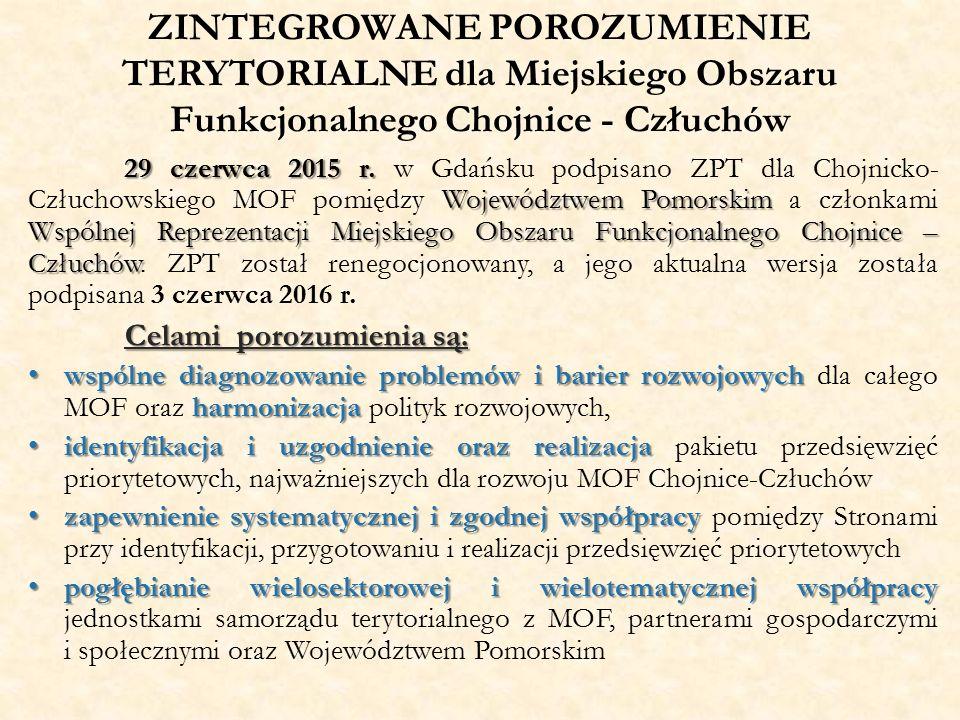 ZINTEGROWANE POROZUMIENIE TERYTORIALNE dla Miejskiego Obszaru Funkcjonalnego Chojnice - Człuchów 29 czerwca 2015 r.