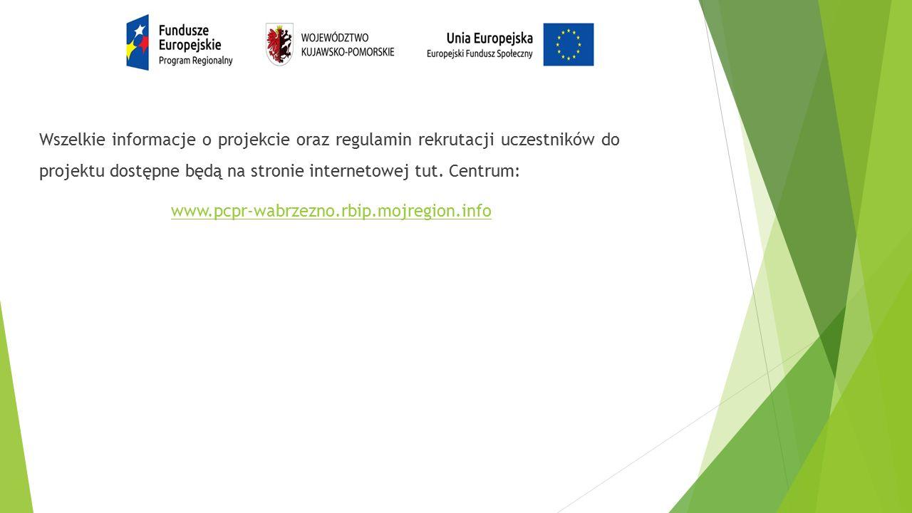 Wszelkie informacje o projekcie oraz regulamin rekrutacji uczestników do projektu dostępne będą na stronie internetowej tut.