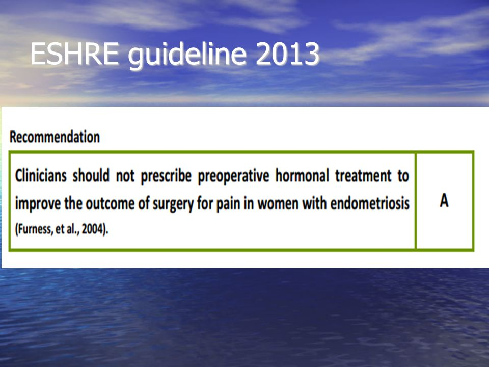 ESHRE guideline 2013