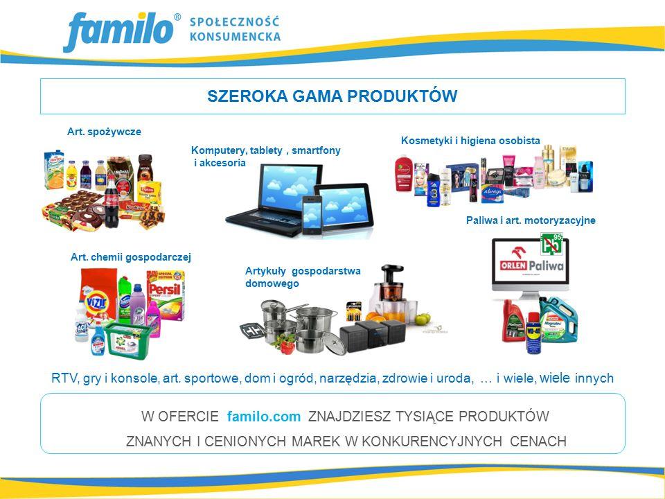 SZEROKA GAMA PRODUKTÓW Paliwa i art. motoryzacyjne Artykuły gospodarstwa domowego Art.
