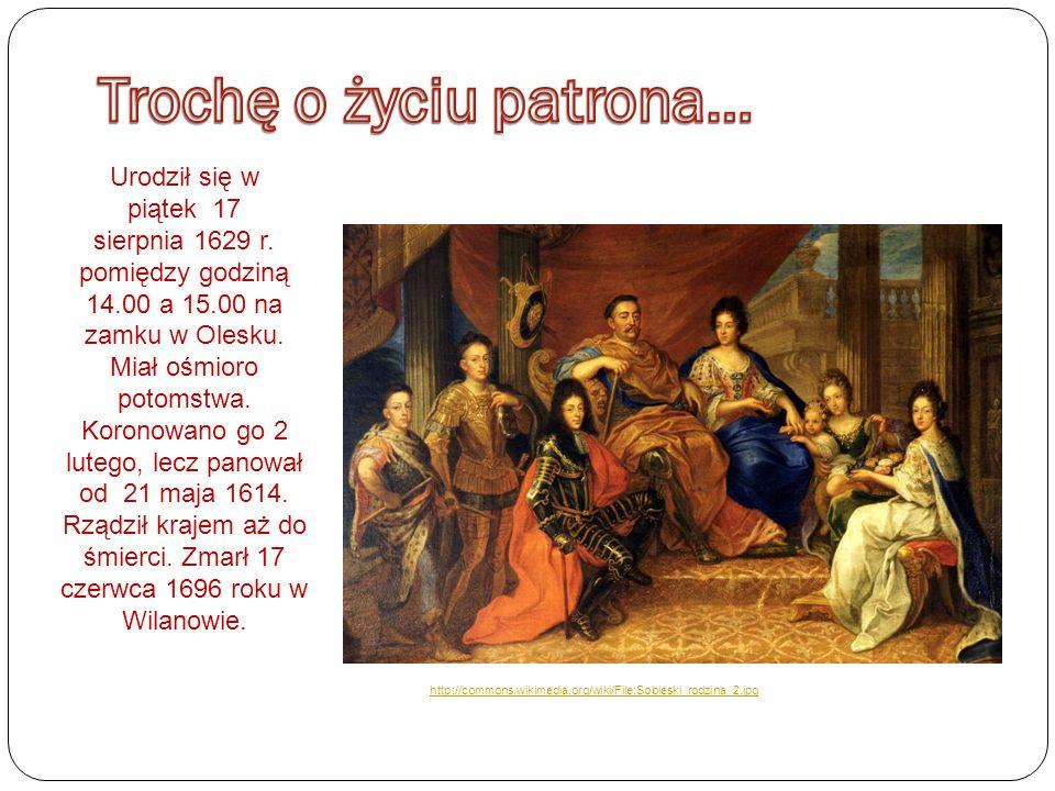 Urodził się w piątek 17 sierpnia 1629 r. pomiędzy godziną 14.00 a 15.00 na zamku w Olesku.