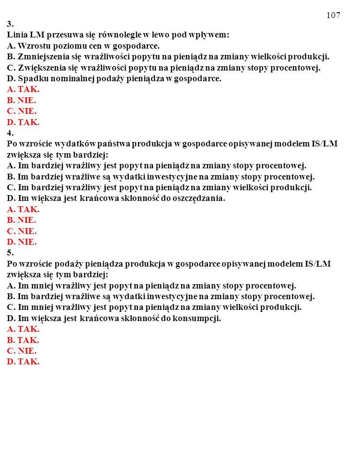 106 Test (Plusami i minusami zaznacz prawdziwe i fałszywe odpowiedzi) A.