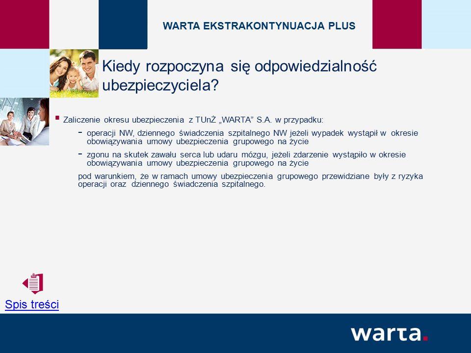 """ Zaliczenie okresu ubezpieczenia z TUnŻ """"WARTA S.A."""