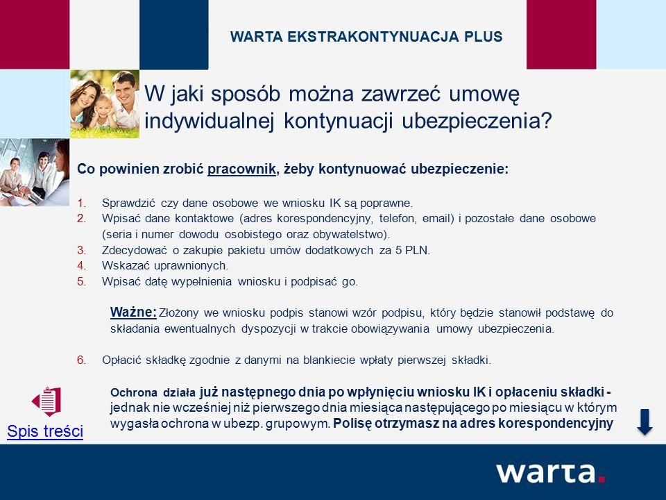 Co powinien zrobić pracownik, żeby kontynuować ubezpieczenie: 1.Sprawdzić czy dane osobowe we wniosku IK są poprawne.