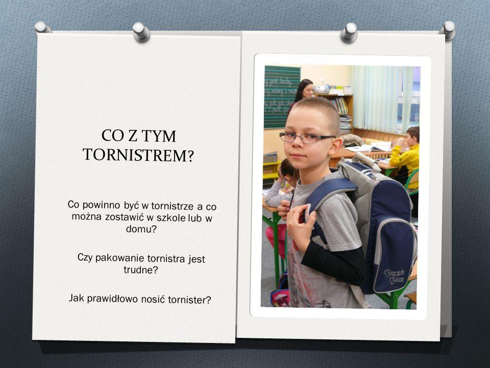 CO Z TYM TORNISTREM. Co powinno być w tornistrze a co można zostawić w szkole lub w domu.