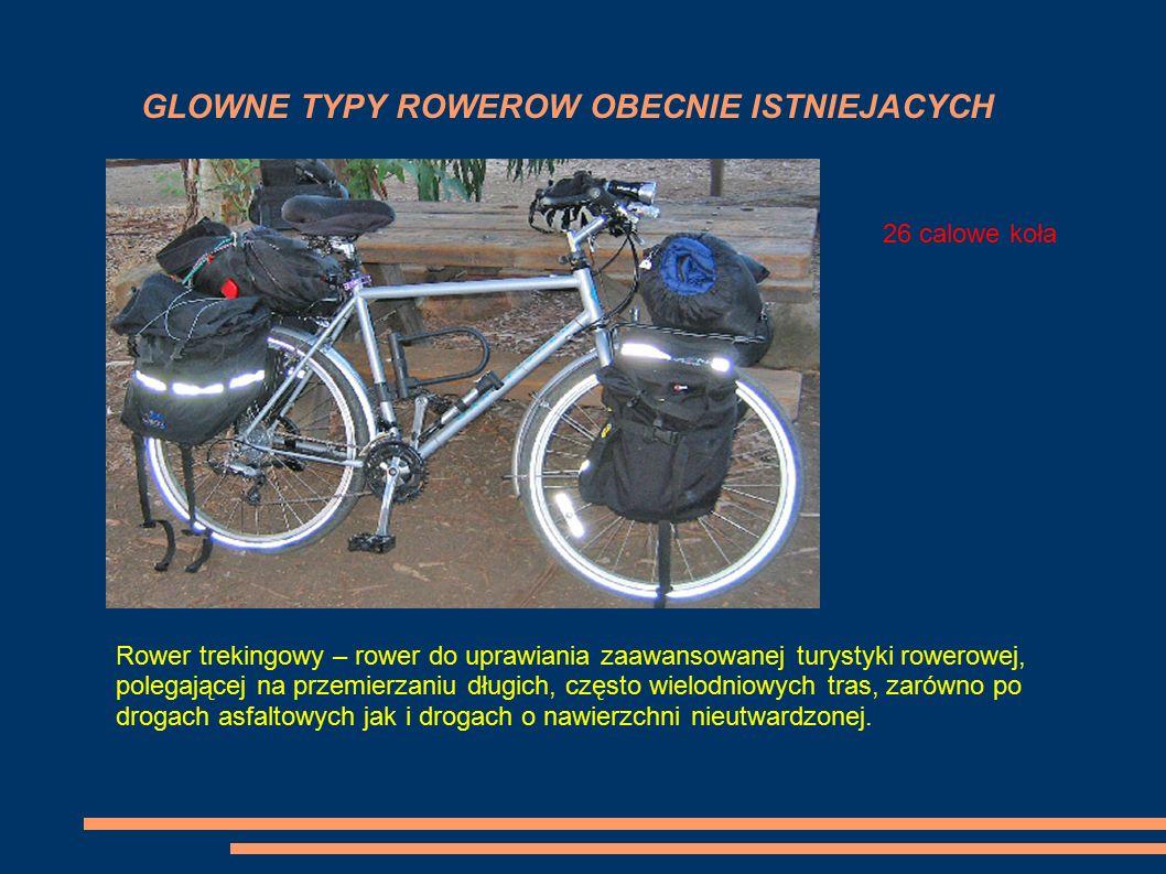 GLOWNE TYPY ROWEROW OBECNIE ISTNIEJACYCH ROWER GORSKI ROWER MIEJSKI 28 calowe kołaKoła od 26 do 29 Rower trekingowy – rower do uprawiania zaawansowane