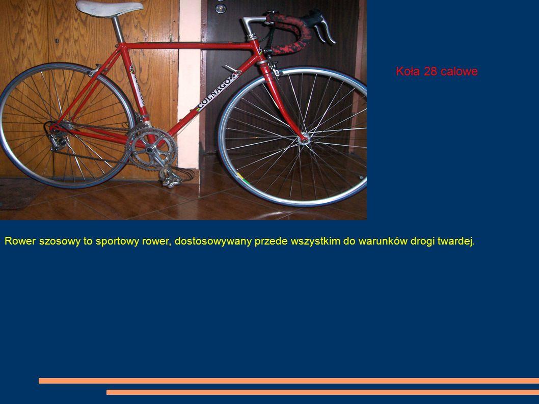 Rower szosowy to sportowy rower, dostosowywany przede wszystkim do warunków drogi twardej. Koła 28 calowe