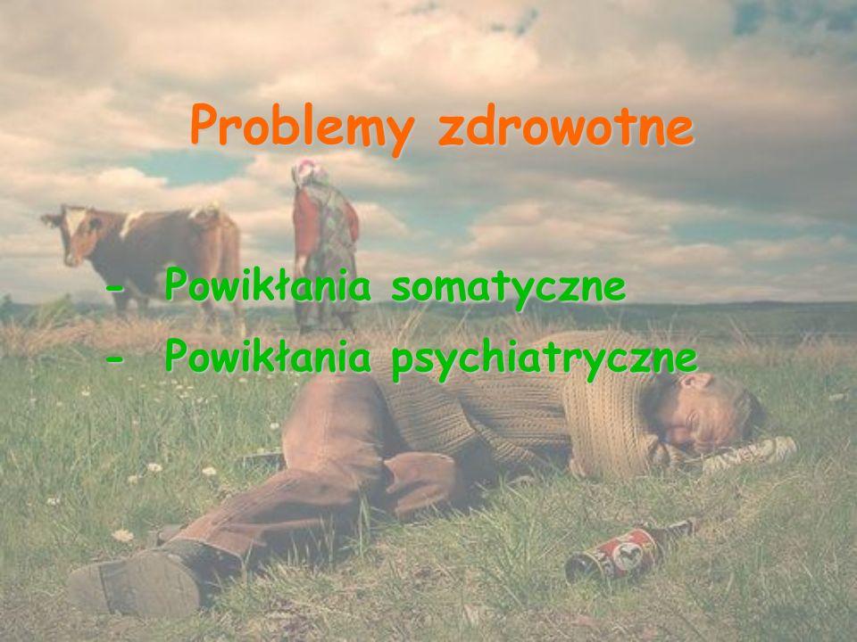 Problemy zdrowotne - Powikłania somatyczne - Powikłania psychiatryczne