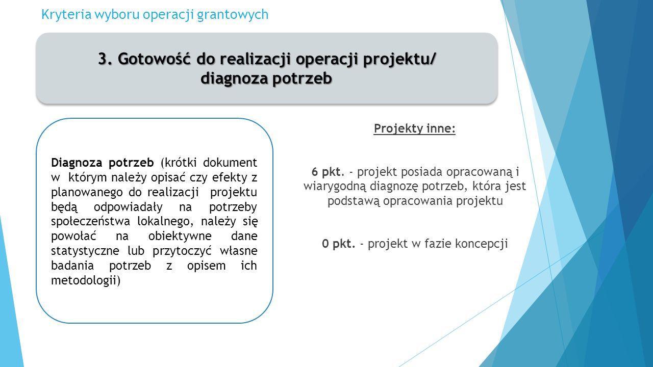 Kryteria wyboru operacji grantowych 3.