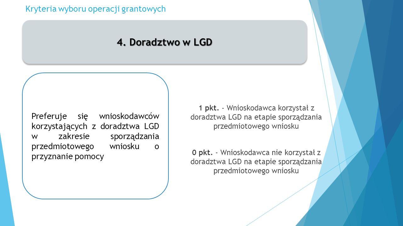 Kryteria wyboru operacji grantowych 4.