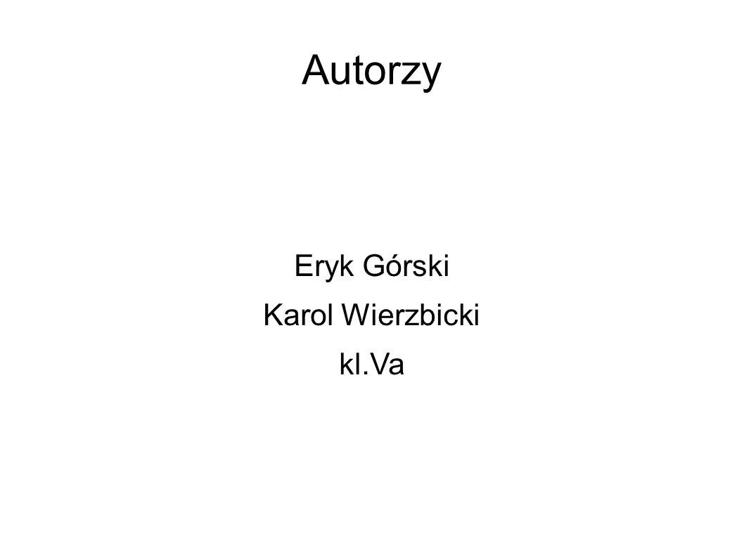 Autorzy Eryk Górski Karol Wierzbicki kl.Va
