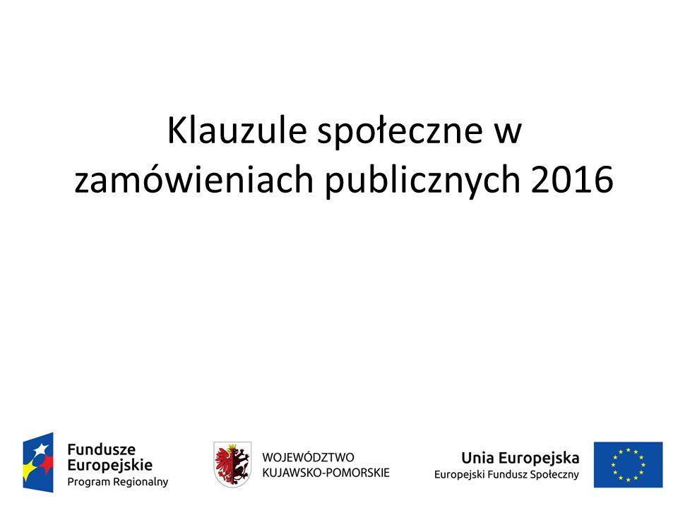 Klauzule społeczne w zamówieniach publicznych 2016