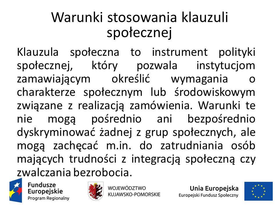 Informacje https://www.uzp.gov.pl/__data/assets/pdf_file/0024/26637/zalecenia_Rady_Min istrow_klauzule_spoleczne.pdf https://www.uzp.gov.pl/__data/assets/pdf_file/0015/26601/Opinia_prawna_1.pdf https://www.uzp.gov.pl/__data/assets/pdf_file/0015/26601/Opinia_prawna_1.pdf - Opinia prawna - opis wymagań związanych z realizacją zamówienia publicznego, dotyczących zatrudnienia osób niepełnosprawnych, zgodnie z art.