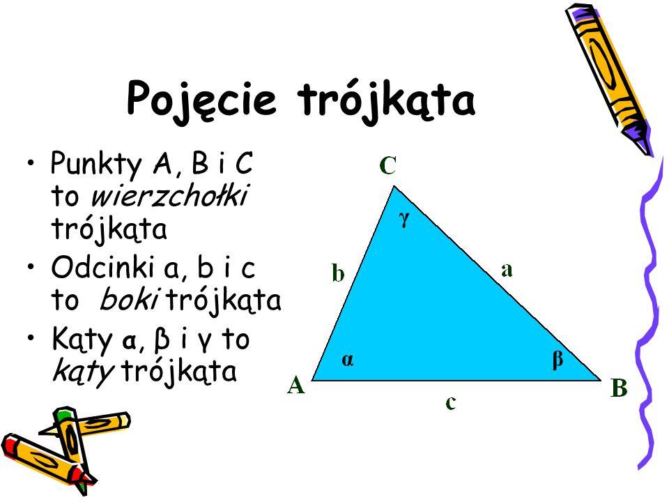 PRZYKŁADY 1.Oblicz pola narysowanych trójkątów: 2.Oblicz pole trójkąta o podstawie a i poprowadzonej na tę podstawę wysokości h: 3.Oblicz pole trójkąta prostokątnego: 3.Oblicz pole trójkąta prostokątnego: UWAGA: Wysokością trójkąta prostokątnego jest jedna z przyprostokątnych.