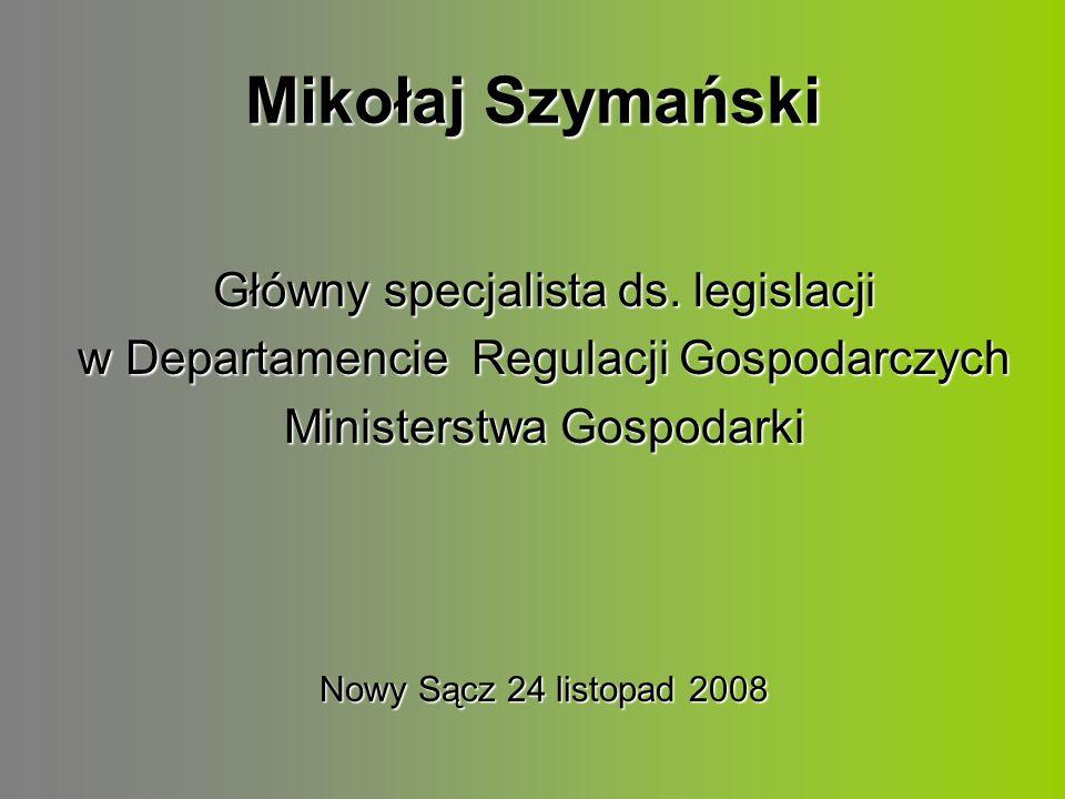 Mikołaj Szymański Główny specjalista ds.