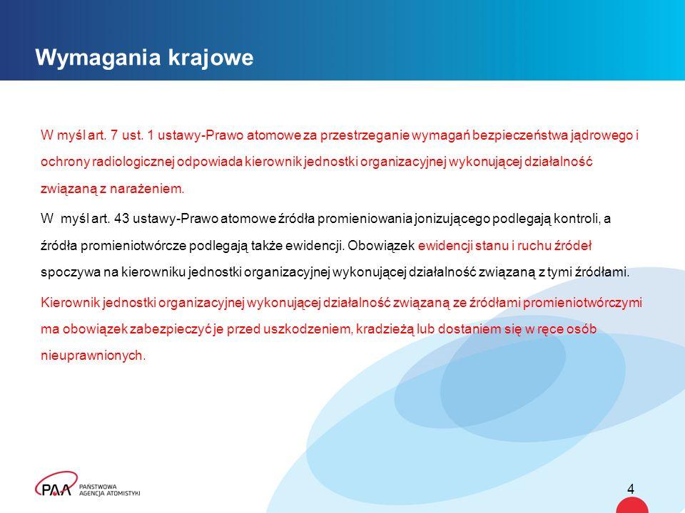 Wymagania krajowe W myśl art. 7 ust.