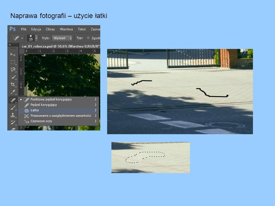 Naprawa fotografii – użycie łatki