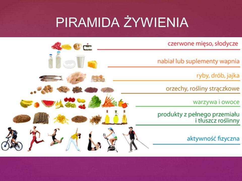 Piramida ż ywienia PIRAMIDA ŻYWIENIA