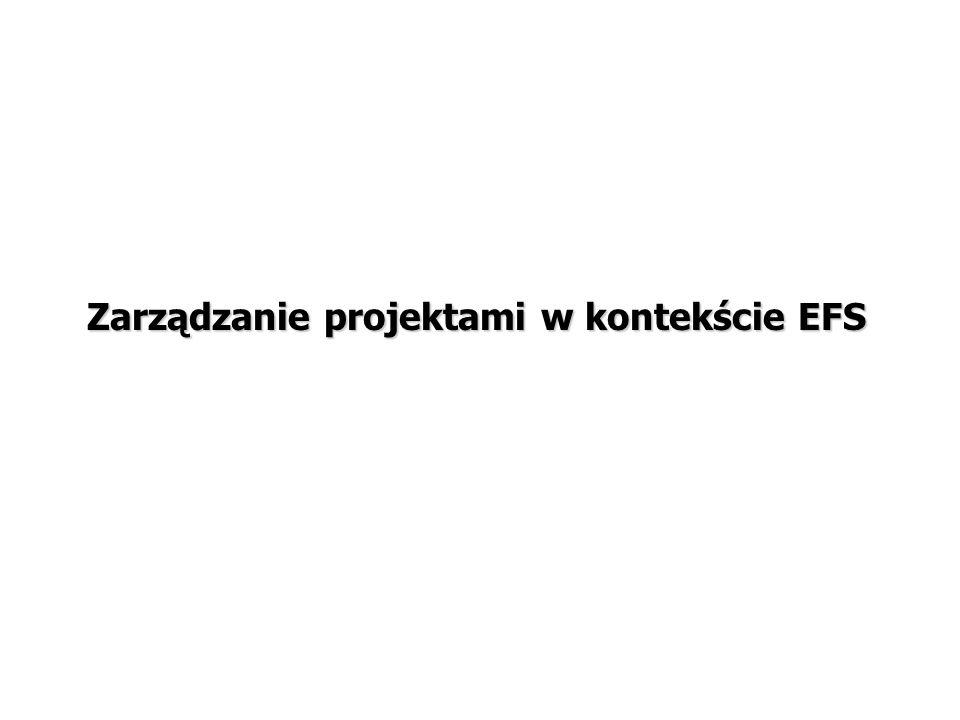 Zarządzanie projektami w kontekście EFS