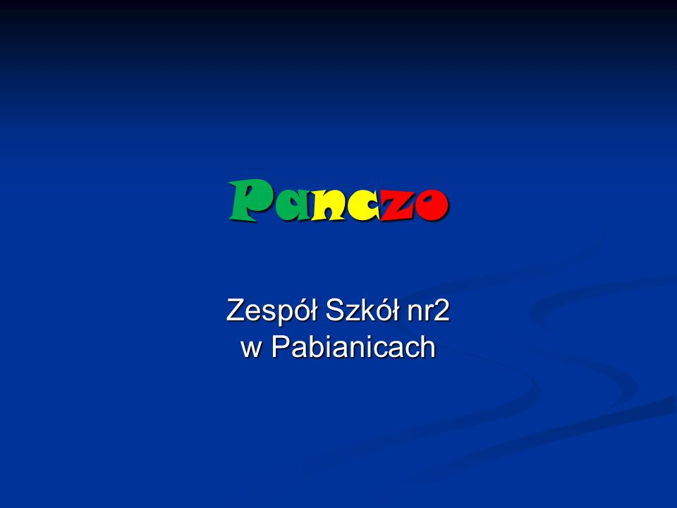 Panczo Zespół Szkół nr2 w Pabianicach