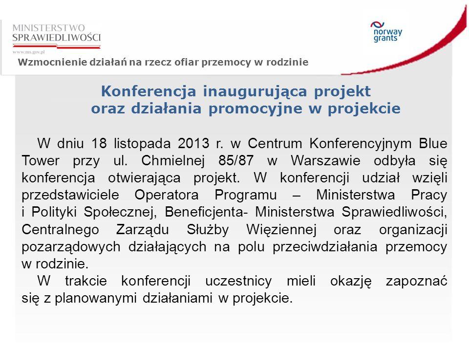 Wzmocnienie działań na rzecz ofiar przemocy w rodzinie W dniu 18 listopada 2013 r.