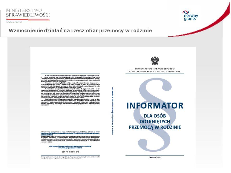 Wzmocnienie działań na rzecz ofiar przemocy w rodzinie Zdjęcia zaczerpnięte z raportu Wykonawcy (CRPS Rafał Gorczowski)