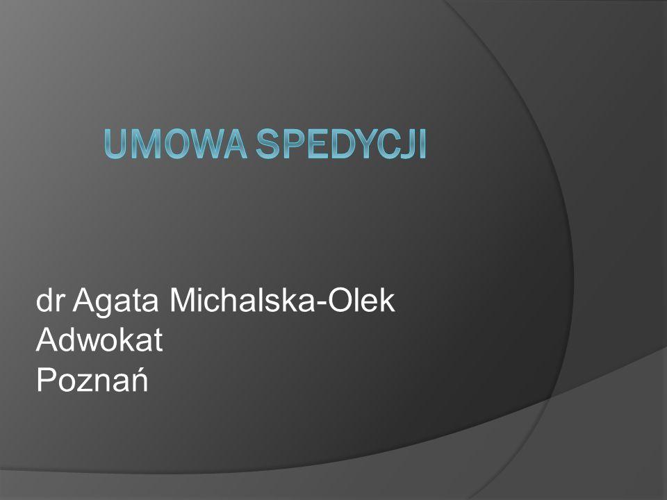 dr Agata Michalska-Olek Adwokat Poznań