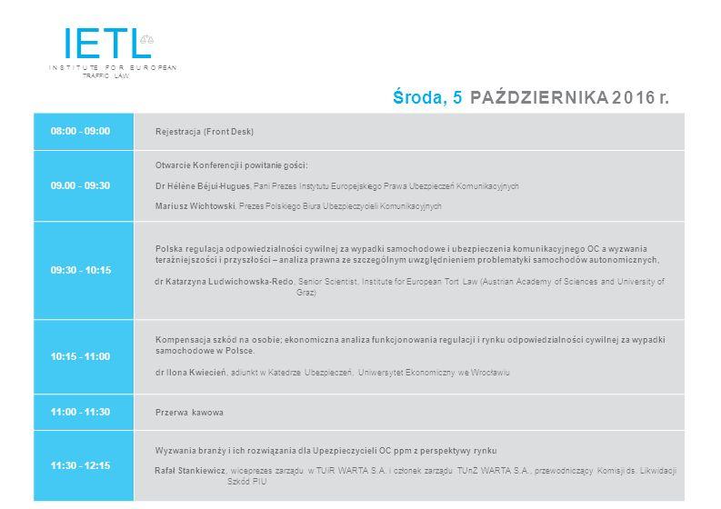 12:15 - 13:00 Wpływ polskiego nadzoru finansowego na likwidację szkód Panel dyskusyjny Czy rekomendacje są w ogóle potrzebne.